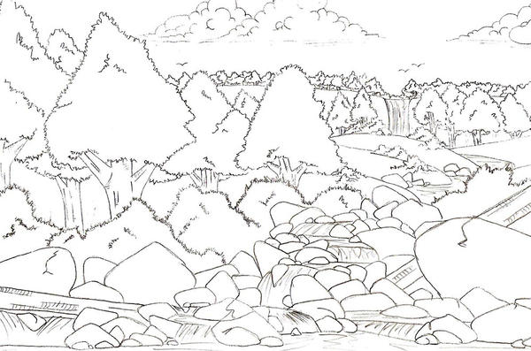 Anime Landscape By Maverick10191 On DeviantArt