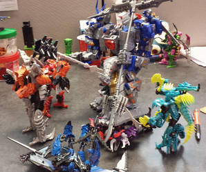 AoE Dinobots vs Big Dino-Robo by MechaTron04