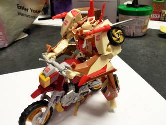 Chromedome riding Scrapheap by MechaTron04