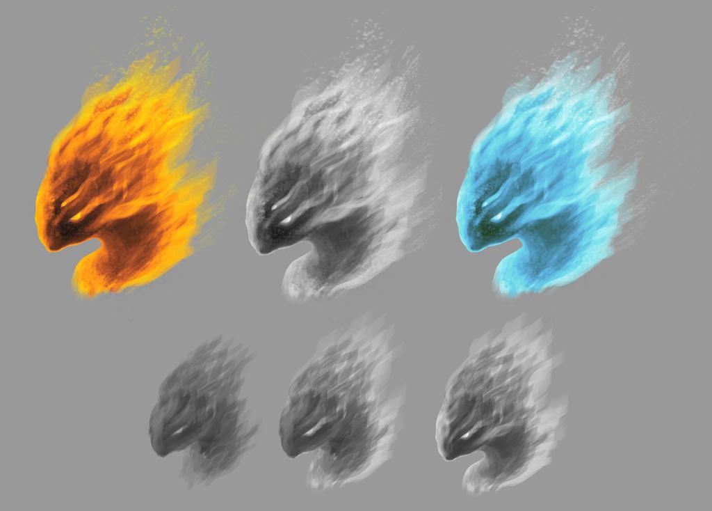 elementals head by MartinMalek