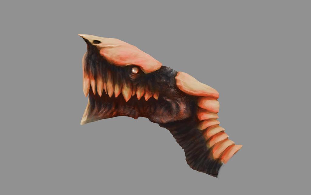 Black red bone dragon by MartinMalek
