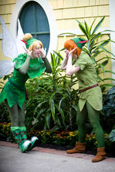 Peter and Tink by AngstLioness