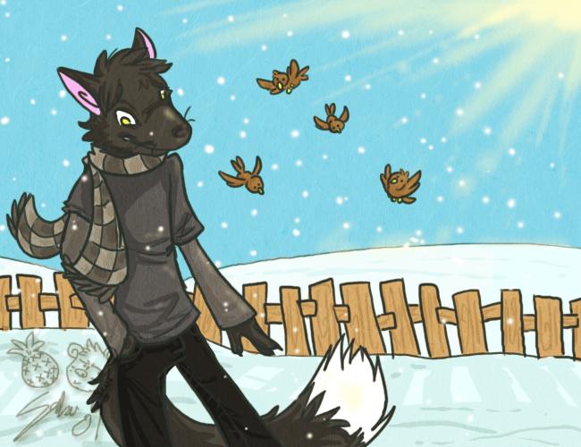 morning snowfall by dragonwarriorsaba