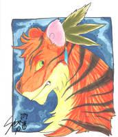 fire tiger by dragonwarriorsaba