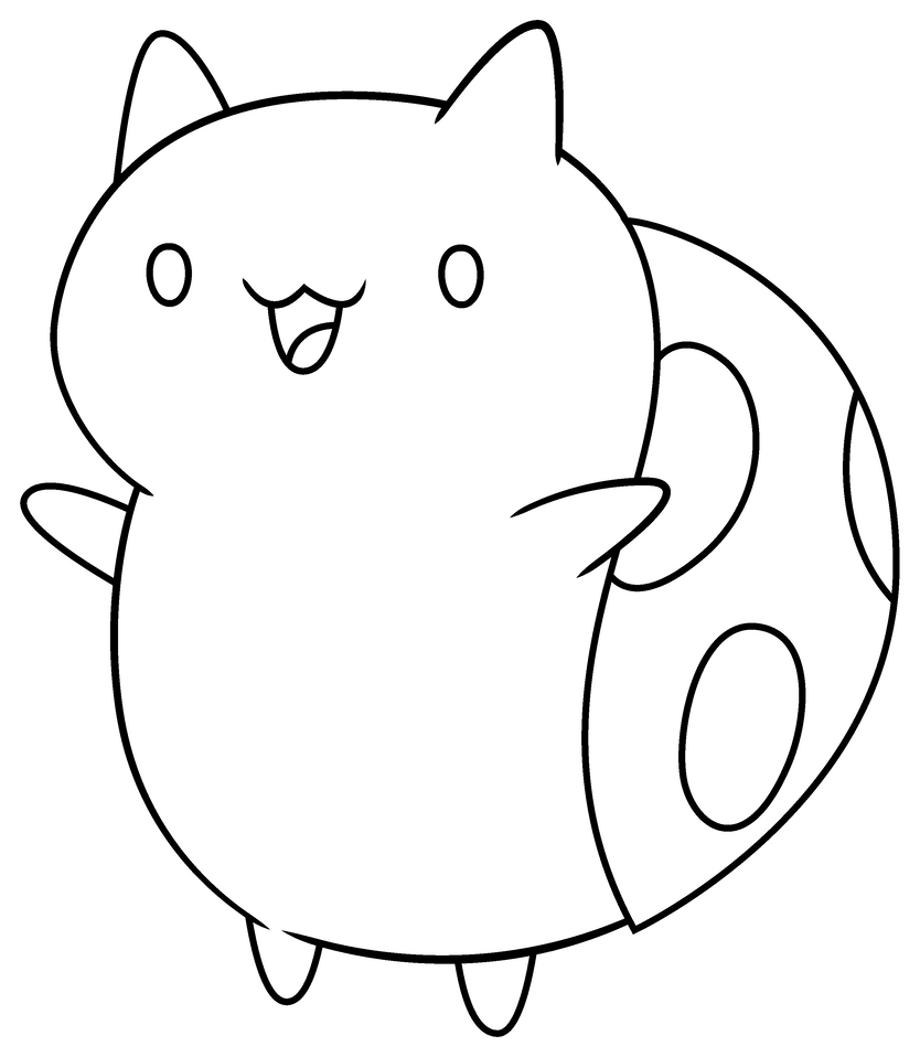 catbug coloring pages cat bug base by xxcloverthecat52xx on deviantart