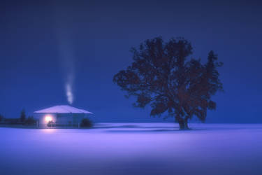 Winter night by Chris-Lamprianidis