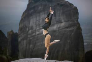 Ioanna on Meteora