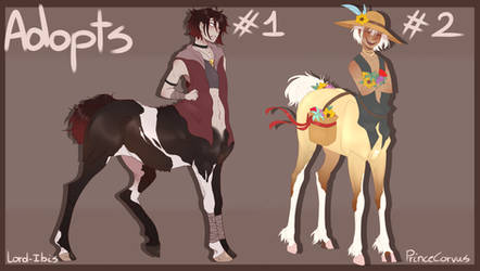 Collab Centaur Adopts CLOSED by PrinceCorvus