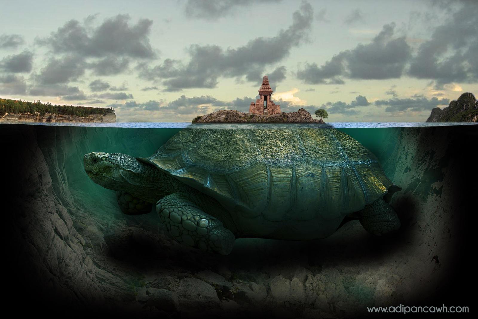 Turtles Island / Bajang Ratu Temples by Adipancawh