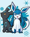 Glaceon And Umbreon by CookieBombShells