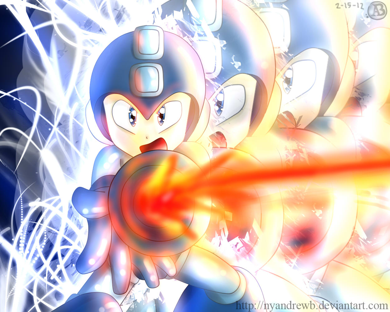 Megaman by NyandrewB