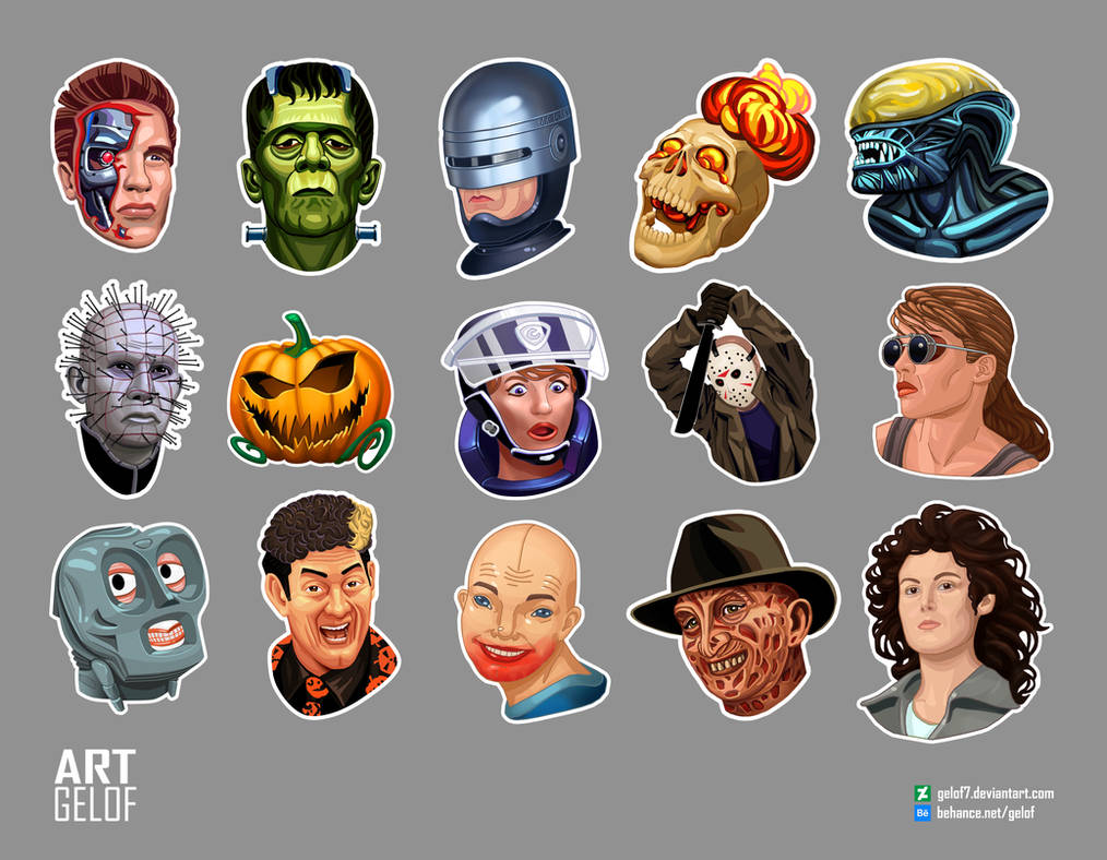 FREE HIRES Horror sticker pack by Gelof7 on DeviantArt