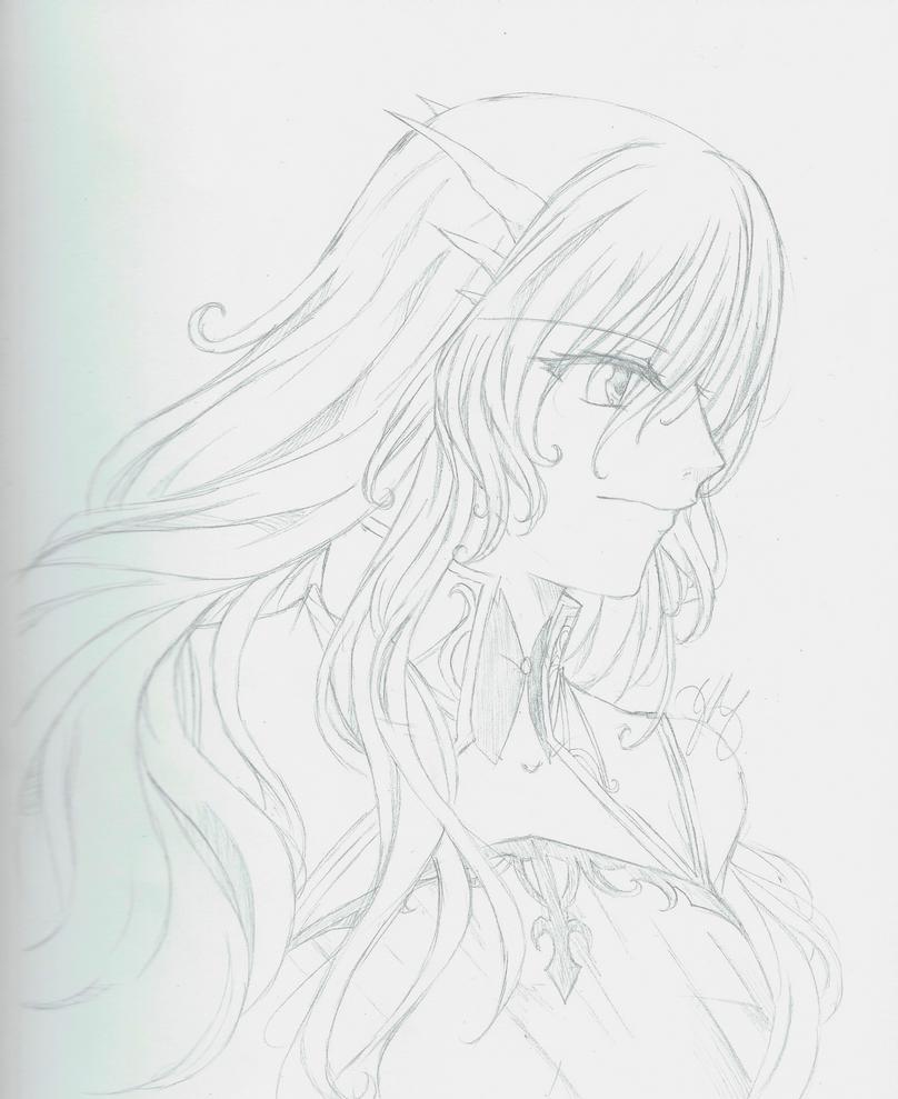 Di'mya Sketch by Youkai-Meimi