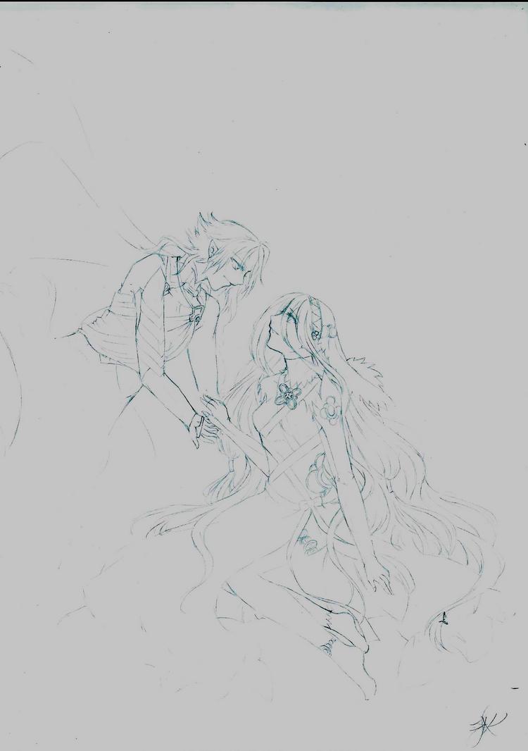 Fanart Sketch by Youkai-Meimi