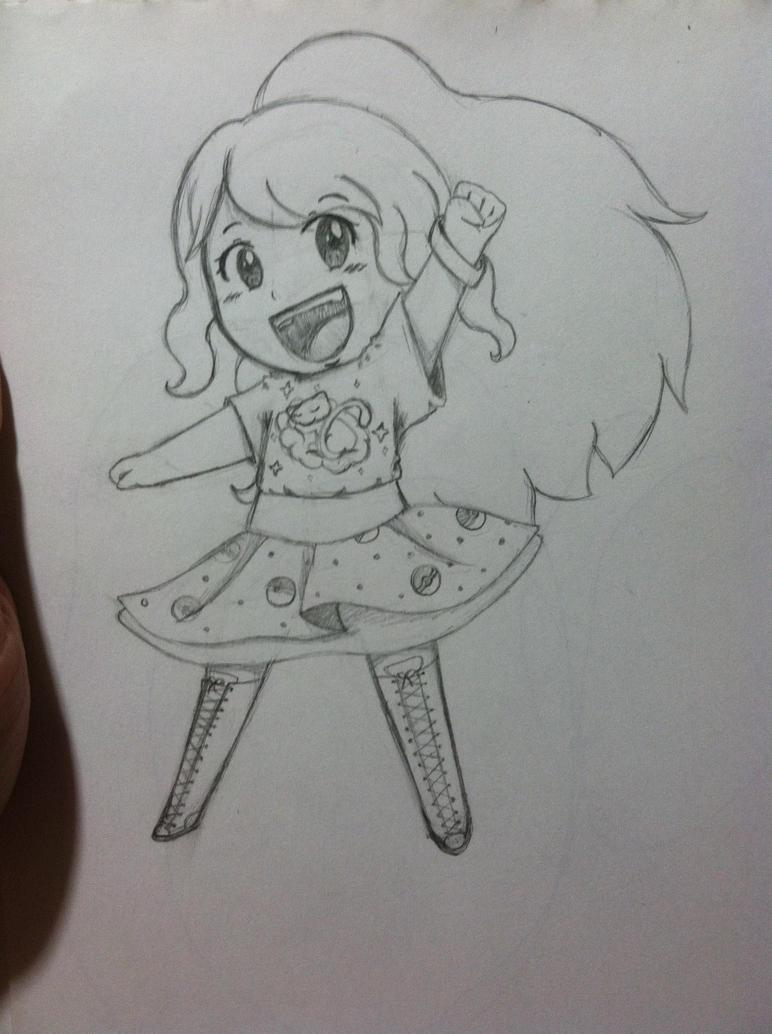 Chibi Me (sketch) by animelover334