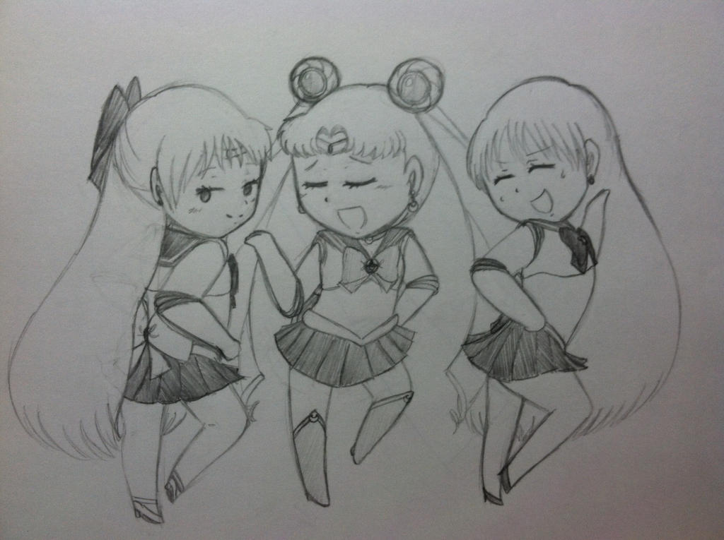 Sailor Moon, Venus, and Mars by animelover334