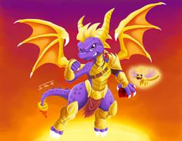Spyro and Sparx by Jo-Vee-Al