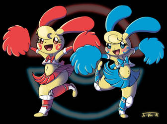 Plusle and Minun by Jo-Vee-Al