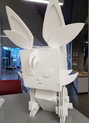Foam Board cube sculpture: Fennec Fox by Jo-Vee-Al