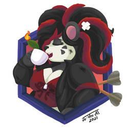 Commission: Xin Panda (Battle Damaged)