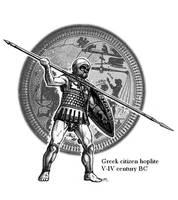 Greek hoplite by Satapatis