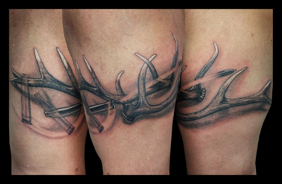 elk antler tattoo by jasonhanks on deviantart rh jasonhanks deviantart com elk antler shoulder tattoo elk antler tattoo