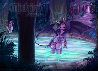 .Commission: Playful Succubus. by AyceWatah