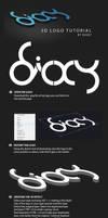 Dioxy 3D logo tutorial by dioxyzone