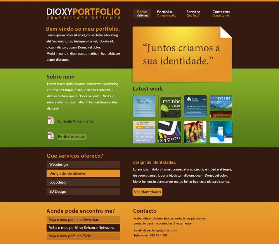 Portfolio Design by dioxyzone
