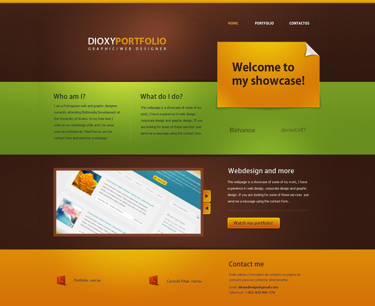 portfolio redesign by dioxyzone