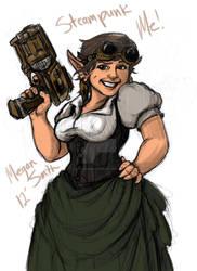 Quick steampunk inspired self portrait