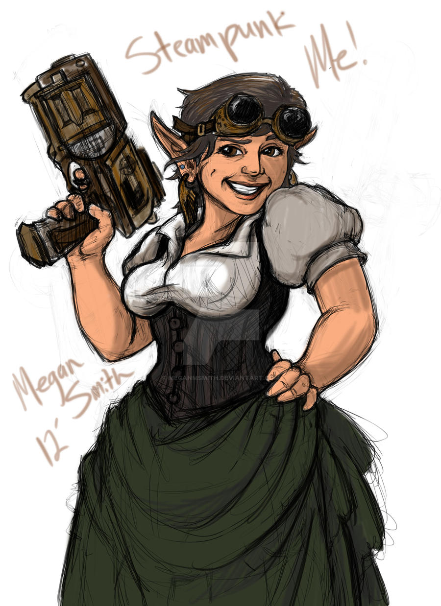 Quick steampunk inspired self portrait