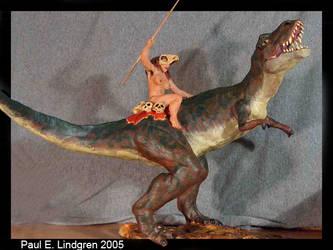 Nude T-Rex Rider by paulrik