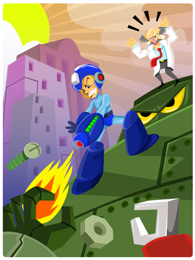 megaman Shoot and run by Andres-Iles