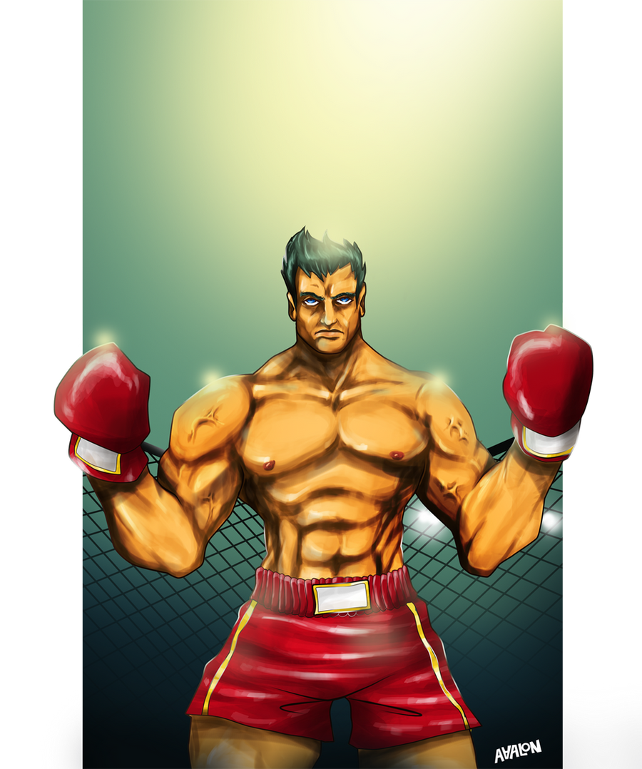 Kick boxer warrior by Andres-Iles