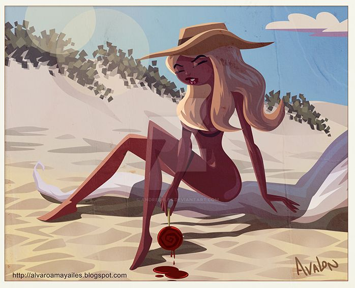A pin up beach!! by Andres-Iles