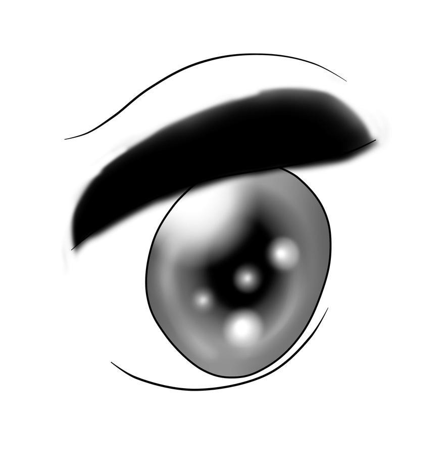 Luna's human eye by flamethehedgehog2345