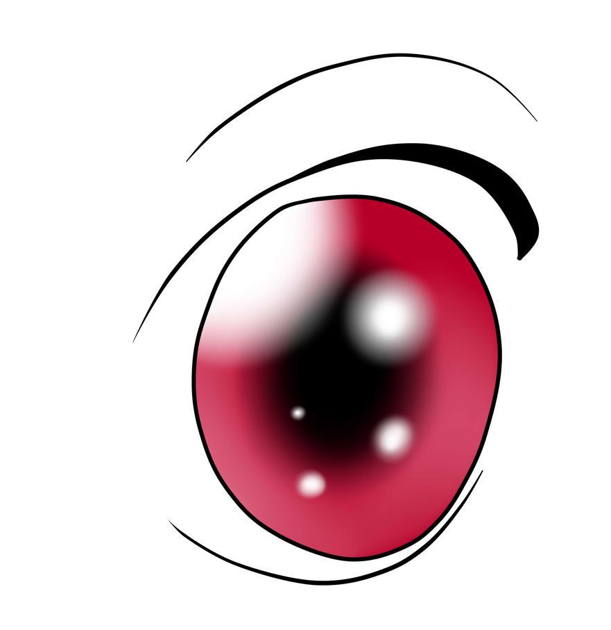 Breeze's human eye by flamethehedgehog2345