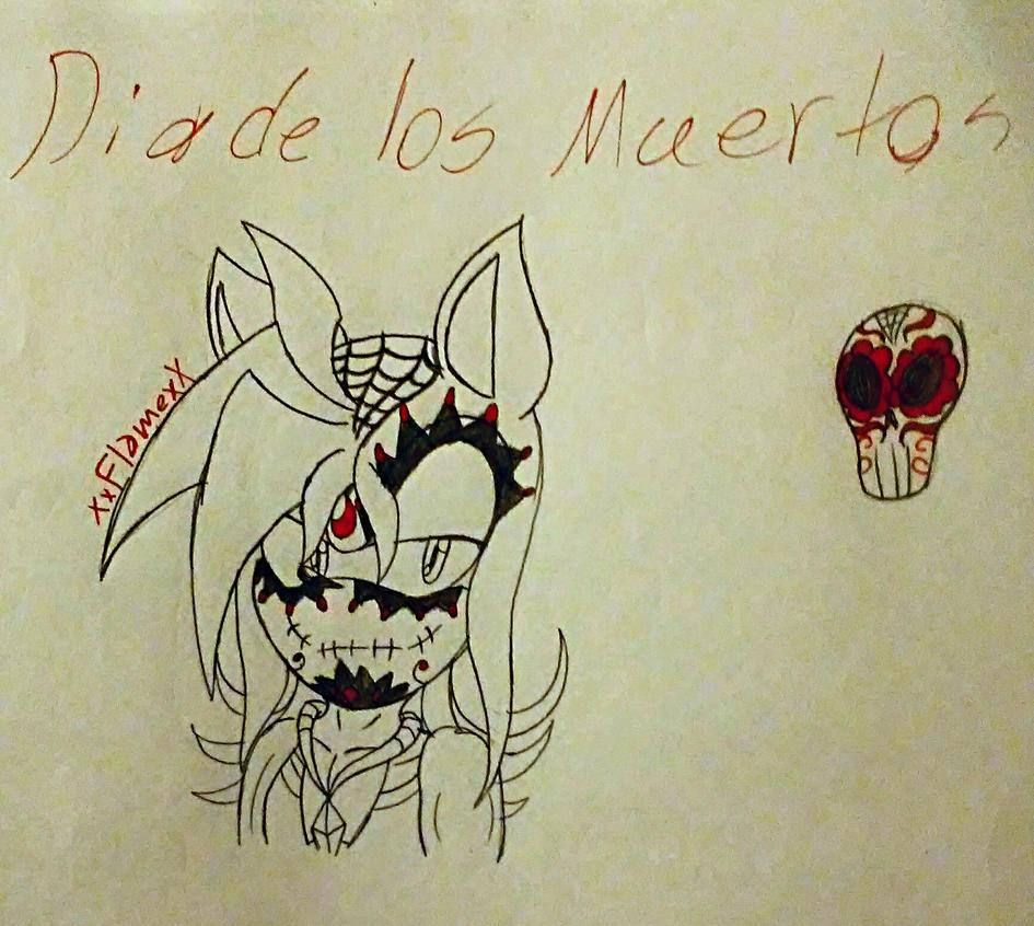 Inktober Day 2: Dia De Los Muertos by flamethehedgehog2345