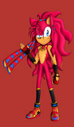 Flame's redesign by flamethehedgehog2345