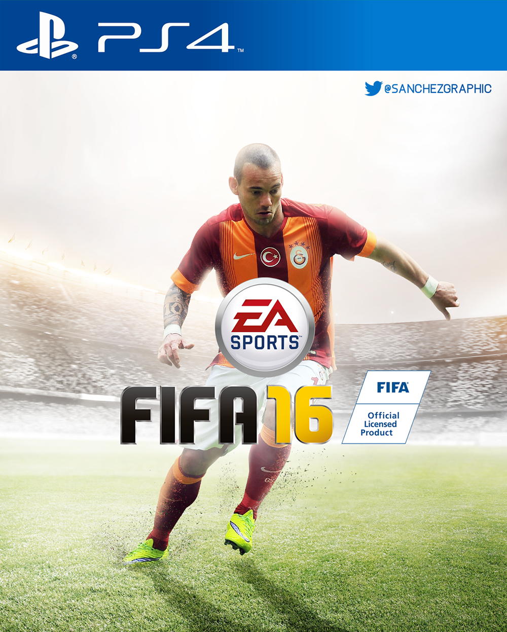 fifa 16 ps4 wesley sneijder by sanchezgraphic on. Black Bedroom Furniture Sets. Home Design Ideas