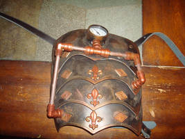 steampunk shoulder pad by Dopelgunder