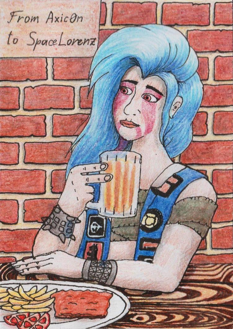 ACEO Goddess of metal by Axic0n