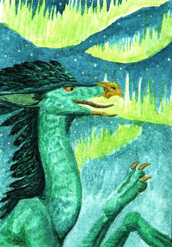 ACEO Grifflizard for Sauron