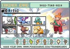 Nostalgia Critic Trainer Card by lightyearpig