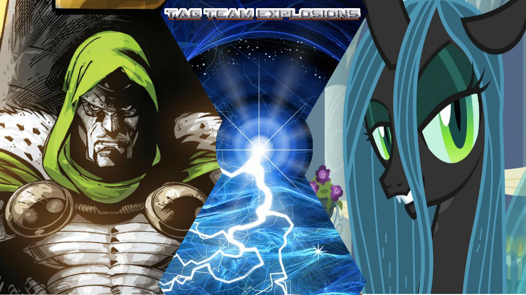 Doctor Doom And Queen Chrysalis by lightyearpig
