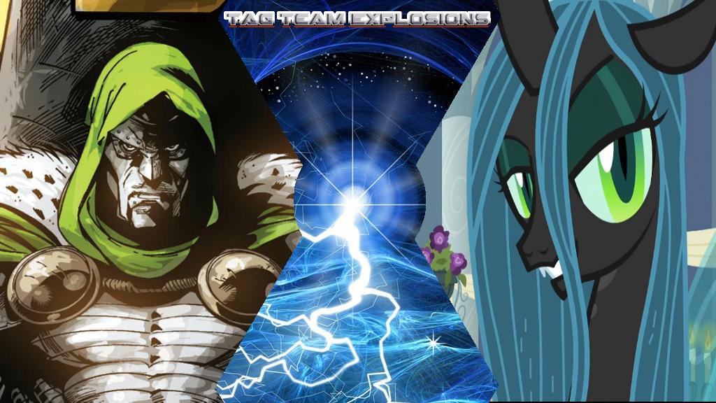 Doctor Doom And Queen Chrysalis by lightyearpig