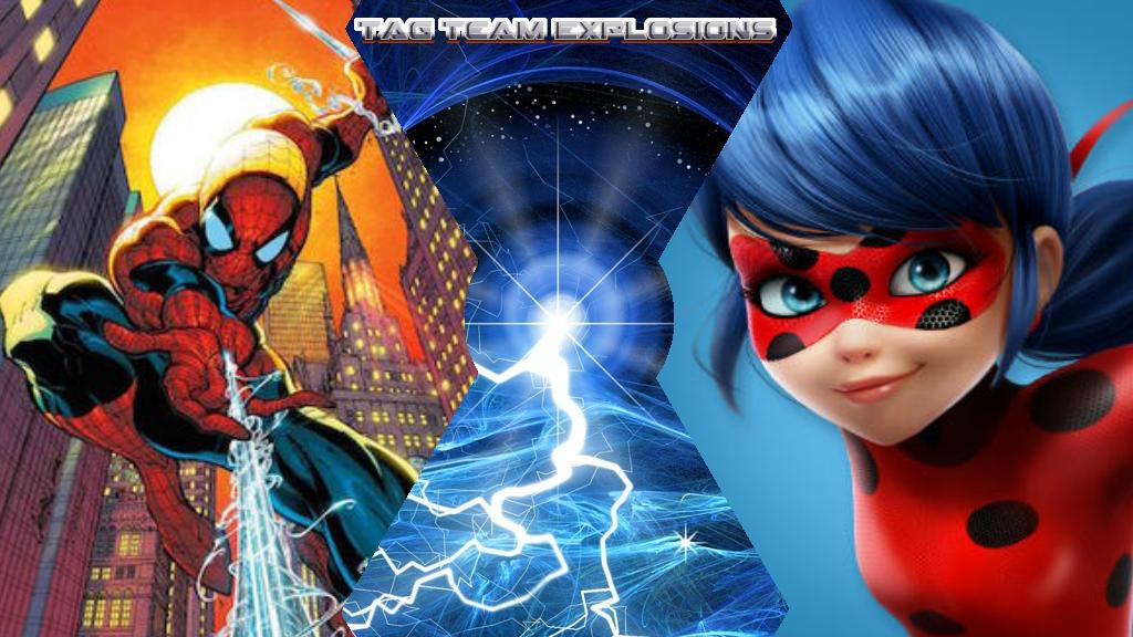 Spider-man And Ladybug by lightyearpig