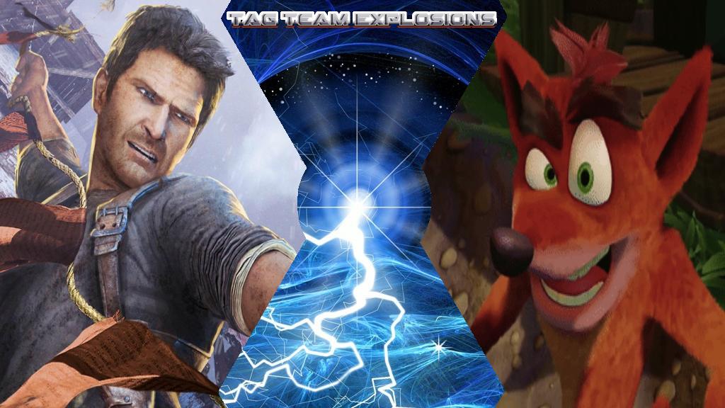 Nathan Drake And Crash Bandicoot by lightyearpig