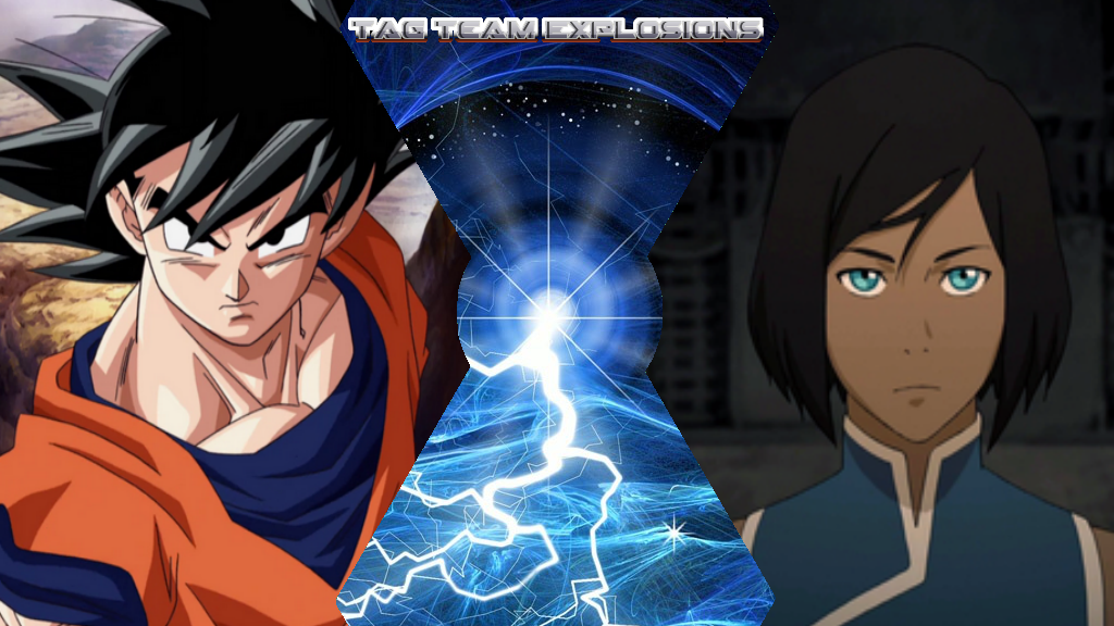 Goku And Korra by lightyearpig